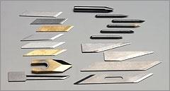 Grande variedade de lâminas de corte