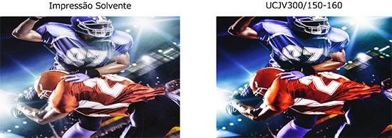 Comparação entre impressão UV com Solvente (imagem)