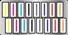 Total de 16 cabeças de impressão escalonadas em duas linhas (8 cabeças em cada linha)