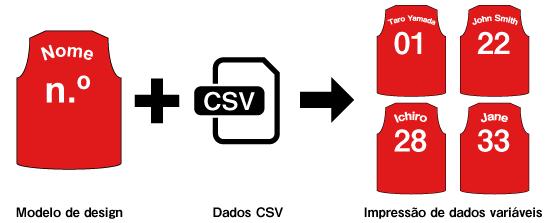 Função de impressão de dados variáveis