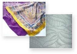 Novos designs são impressos em algodão, linho, seda e rayon