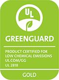 [GREENGUARD Gold] Etiqueta de certificação