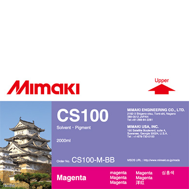 CS100-M-BB CS100 Solvent ink bottle Magenta