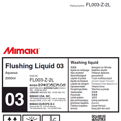 FL003-Z-2L Flushing Liquid 03 2L Pack