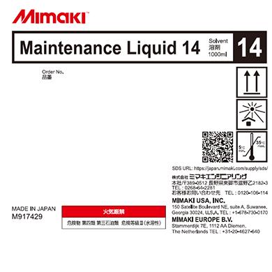 ML014-Z-BA Maintenance Liquid 14 (1L bottle)