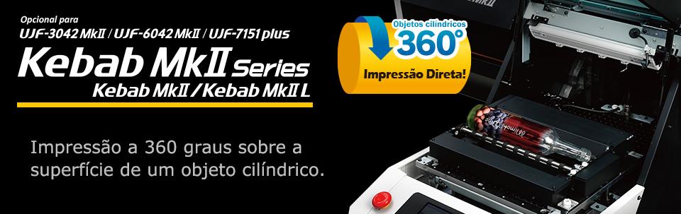 Kebab MkII Series / Impressão a 360 graus sobre a superfície de um objeto cilíndrico.