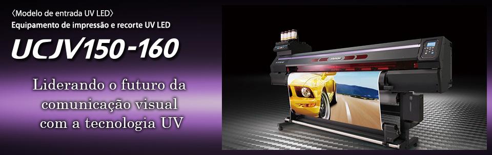 UCJV150-160 / Equipamento de impressão e recorte UV LED: modelo de entrada (4 cores)