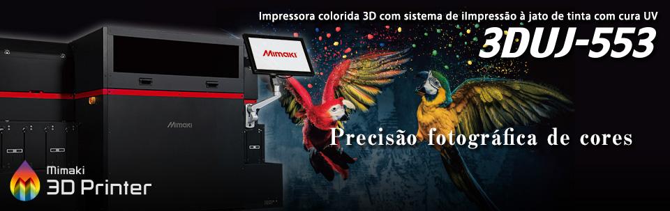 3DUJ-553 / Impressora colorida 3D UV-LED que permite impressão de modelos com até 10 milhões de cores